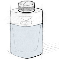 Bentley For Men Azure | Bottle Design Sketches